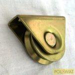 tolókapu görgő ᴓ80mm V-profil beépítő villával