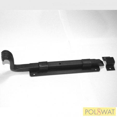 tolózár (retesz) 40-es zártszelvényre reteszvas: 12x12-210mm talp: 37x160mm fekete