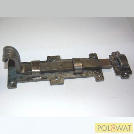 kovácsolt tolózár (retesz) reteszvas: 15x8-190mm talp: 60x160mm