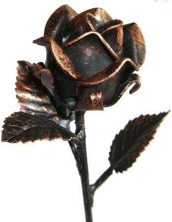 festett antikolt kovácsoltvas rózsa kalapált szár hossz 250mm