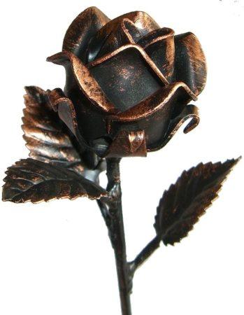 festett antikolt rózsa kalapált szár hossz 250mm