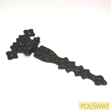 kovácsoltvas zsanér 160x70mm festett fekete