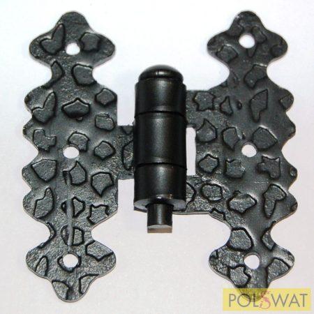 kovácsoltvas zsanér 70x60mm festett fekete