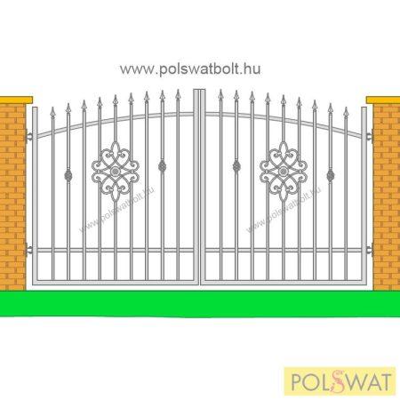 kovácsoltvas kétszárnyas kapu festetlen 3m x 1,7m Pár nap alatt legyártjuk egyedi méretben is!