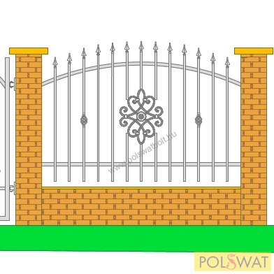 kovácsoltvas kerítés festetlen 2m x 1,3m Pár nap alatt legyártjuk egyedi méretre is!