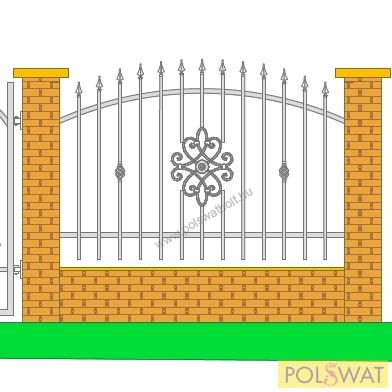 kovácsoltvas kerítés festetlen 2m x 1,3m legyártjuk egyedi méretre is!