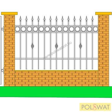 kerítés 1,2x2 festetlen, legyártjuk egyedi méretben is!