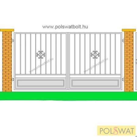 retro kétszárnyas kapu 1,5x3méter festetlen pár nap alatt legyártjuk egyedi méretben is