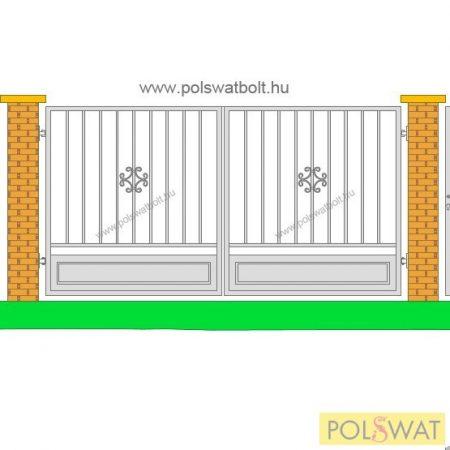 retro kétszárnyas kapu 1,5x3méter festetlen, legyártjuk egyedi méretben is