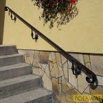 korlátkapaszkodó falra kovácsoltvas jellegű festetlen az ár 3 méterre vonatkozik