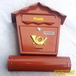 postaláda Nestor 450x370x100mm barna szórólapcsővel
