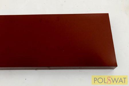 alumínium profil, vörös 140 x 25 x 1,5mm