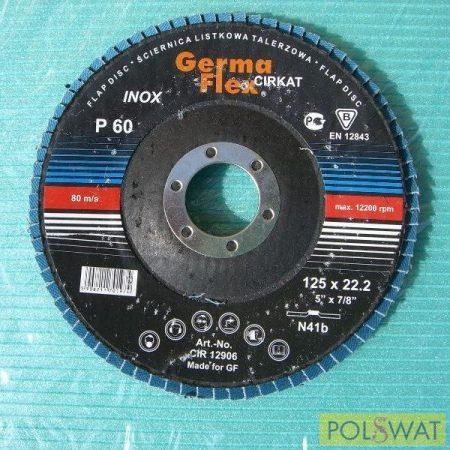 lamellás tisztítókorong 125 Cyrkon érdesség 60 Inox